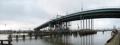 Nog brug in Gothenburg, Zweden Stock Afbeelding