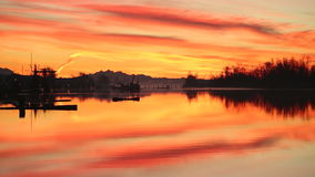 Nog Haven Dawn, Steveston stock footage