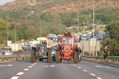 Nog-vara-nog anti-bondemordaktion Rustenburg som är södra Royaltyfri Foto