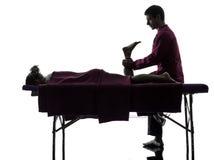 Noga cieków masażu terapii sylwetka obraz royalty free