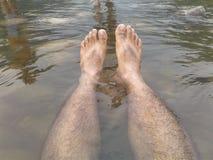 Noga w wodzie Obrazy Royalty Free