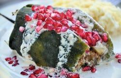 Nogada mexicain d'en du Chili de nourriture Images libres de droits
