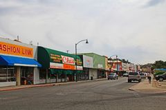 Downtown Street in Nogales, Arizona, USA stock photography