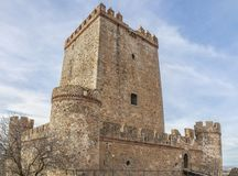 Nogales Castle, Badajoz, Spain. 15th Century defensive fortress. South side royalty free stock photography