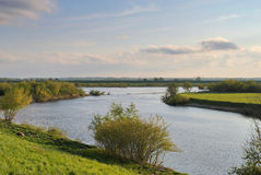 Nogat river in Biala Gora, Poland Stock Photography