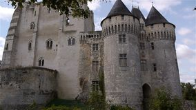 NOGENT-LE-ROTROU, FR - 23 AUGUSTUS 2018: Château des comtes du Perche, PAN stock video