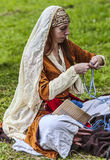 Medieval Woman stock image
