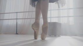 Nogi balerina w baletniczych butach zbiory wideo