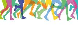 Nogi biegacze ilustracji