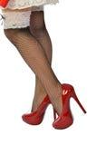 Nogi, buty i fishnet pończochy, Fotografia Royalty Free