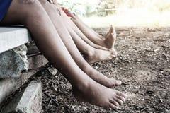 Nogi dzieciaki, obraz royalty free