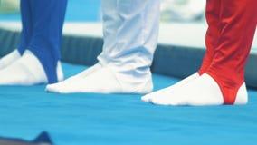 Nogi męscy particapants gimnastyczny mistrzostwo zbiory
