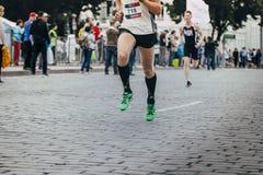Nogi maratonu biegacz Obraz Royalty Free