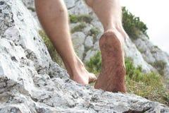 Nogi na skałach Fotografia Royalty Free