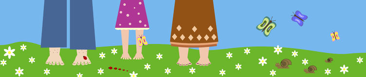 Nogi na trawie ilustracji