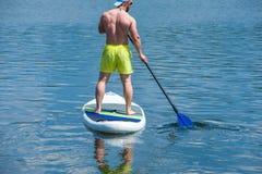 Nogi obsługują ćwiczy paddle 01 Obraz Stock