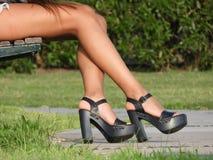 Nogi osoba Zdjęcie Stock