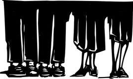 Nogi przy przyjęciem Obraz Stock