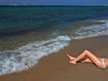 nogi surfować dziewczyn Zdjęcie Royalty Free