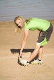 nogi target1581_0_ rozciąganie kobiety Fotografia Stock