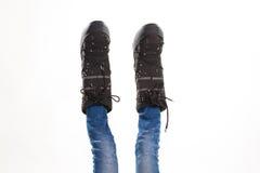 Nogi w księżycowych butach obrazy royalty free
