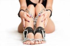 Nogi w szaklach Fotografia Royalty Free