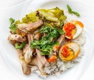 nogi wieprzowiny ryż Obrazy Stock