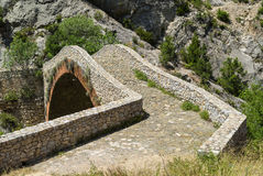 Noguera (Catalunya), historic bridge Stock Image