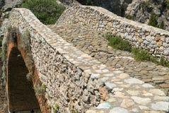 Noguera (Catalunya), historic bridge Stock Photos