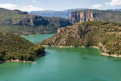 Noguera (Catalunya), river Stock Image