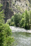 Noguera Pallaresa river on its way through Llavorsi Royalty Free Stock Image