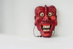 Noh一个传统日本剧院面具 免版税库存图片