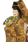Noh ningyo doll. A japanese doll of a funny old man with his japanese mask Royalty Free Stock Photography