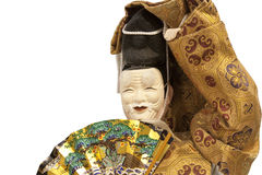 Noh ningyo doll. A japanese doll of a funny old man with his japanese mask Stock Image