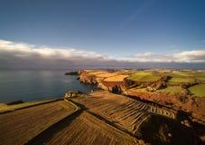 Irish coast from above. Royalty Free Stock Photos