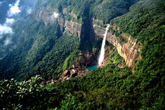Free Nohkalikai Falls Stock Images - 46915244
