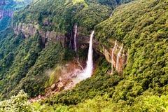 Nohkalikai Falls, Meghalaya stock image