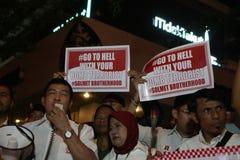 Noi campagna non impaurita dopo lo scoppio di Jakarta Fotografia Stock Libera da Diritti