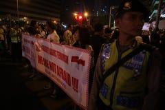 Noi campagna non impaurita dopo lo scoppio di Jakarta Fotografie Stock