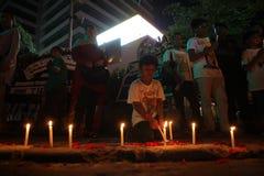 Noi campagna non impaurita dopo lo scoppio di Jakarta Immagine Stock Libera da Diritti