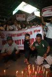 Noi campagna non impaurita dopo lo scoppio di Jakarta Fotografia Stock