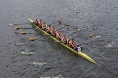 Noi corsa di annapolis dell'Accademia Navale nella testa del campionato Eights di Charles Regatta Men Fotografia Stock Libera da Diritti