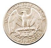 Noi moneta del dollaro quarto fotografia stock
