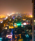 Noida city scape with colorful lights on Diwali Royalty Free Stock Photos