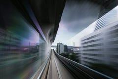 Noir à grande vitesse de Tokyo Images libres de droits