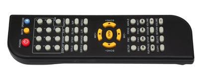 noir à télécommande de clavier numérique de TV d'isolement sur le fond blanc Photos libres de droits