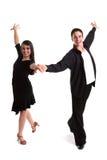 Noir 02 de danseurs de salle de bal Image libre de droits