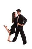 Noir 08 de danseurs de salle de bal Image libre de droits