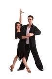 Noir 10 de danseurs de salle de bal Images libres de droits