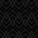Noir abstrait et Gray Dark Chevron Geometric Pattern illustration stock